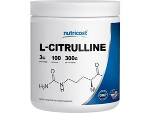 Nutricost Pure L-Citrulline 300 Grams - Pure L-Citrulline Powder - High Quality - L-Citrulline Malate