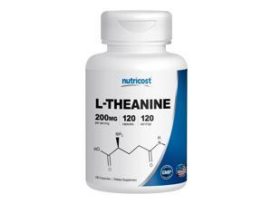 Nutricost L-Theanine 200mg&#59; 120 Capsules - Double Potency