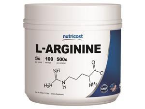 Nutricost L-Arginine 500 GMS - High Quality Pure L-Arginine Powder - 5000mg Per Serving&#59; 100 Servings