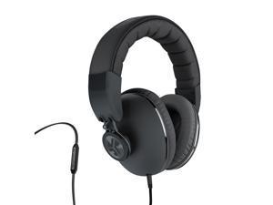 JLab Bombora Over-Ear Headphones with Universal Mic, Matte Black/Gunmetal