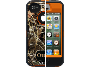 Otterbox Defender Case Cover with Belt Clip for Apple iPhone 4 4S Max 4HD Blaze - Orange Real Tree Camo Pattern APL2-I4SUN-H3-E4RT1