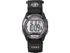 Timex Expedition Full Pusher CAT Digital Watch - Grey Dial/Black Fabric Fast Wra
