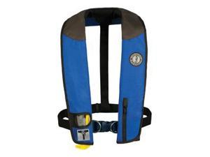 Mustang Deluxe Adult Inflatable - Manual w/Harness - Universal - Royal/Black/Carbon