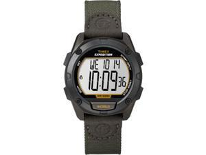 Timex Expedition Full Pusher CAT Digital Watch - Black Dial/Green Fabric Strap