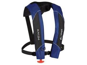 Onyx A/M-24 Automatic/Manual Inflatable PFD Life Jacket - Blue
