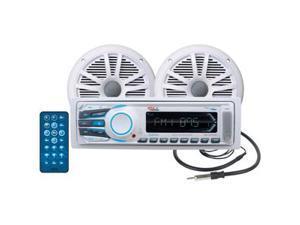 Boss Audio MCK1306W.6 Package w/MR1306UA Receiver, 2 MR6W Speakers & MRANT10 Antenna