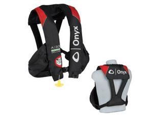 """Onyx A-33 In-Sight Deluxe """"Tournament"""" Automatic Inflatable Life Vest - Black/Red"""