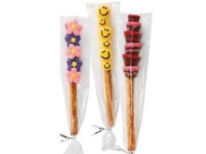 20 Wilton CLEAR PRETZEL PARTY BAGS Favor Treats Candy