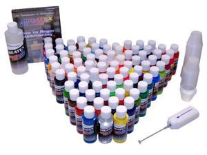 74 COLOR Createx COLORS PAINT SET - Airbrush - Hobby - Craft
