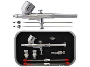 MASTER PRO G222 0.3mm Dual-Action Gravity AIRBRUSH SET KIT w/ 3 TIPS Paint Hobby