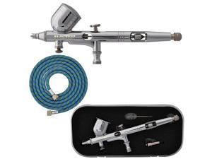 New PRO 0.2mm Dual-Action Gravity Feed AIRBRUSH KIT SET Micro Fine Control MAC
