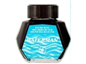 Waterman 2oz Bottled Fountain Pen Ink South Sea Blue