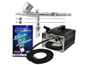 PRO G233 3 Tip .2 .3 .5 Gravity Airbrush & Air Compressor Kit Dual-Action Hobby