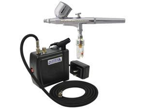 Gravity Dual-Action Airbrush Set & Compressor Kit Air Filter Hobby Cake T Shirt