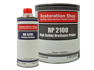 Restoration Shop 2.1 VOC High Solids Urethane Primer Gallon Kit with Hardener