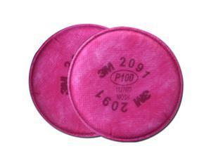 3M Particulate Replacement Respirator Facemask Filter 2pk 2091 7000