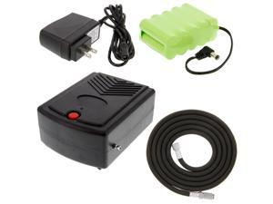 Portable Rechargeable AIRBRUSH AIR COMPRESSOR SET 12V DC BATTERY & CHARGER Cake