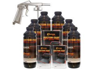 Bed Liner CUSTOM COAT BLACK 6-L Urethane Spray-On Truck Kit w/ FREE Spray Gun