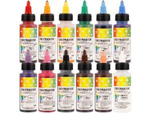 Chefmaster Airbrush Food Coloring Set - 12 Popular Colors in 2 fl. oz. Bottles