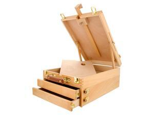US Art Supply GRAND CAYMAN Extra Large 2-Drawer Wooden Sketchbox Easel Painting
