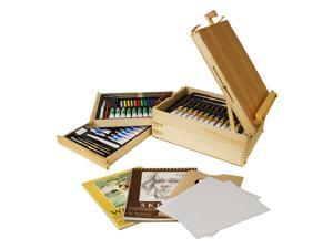 US Art Supply 95 Piece Master Artist Painting Set Oil, Acrylic, Watercolor Paint