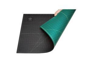 "18"" x 24"" GREEN/BLACK Self Healing 5-Ply Double Sided Durable PVC Cutting Mat"