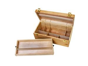 US Art Supply® Artist Wood Pastel, Pen, Marker Storage Box with Drawer(s) (Large Tool Box)