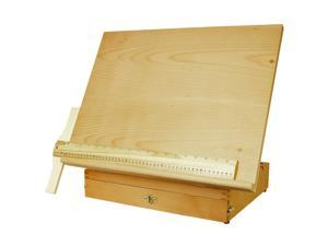 "US Art Supply ""Sketch Master"" Adjustable Wood Artist Drawing & Sketching Board With Storage Drawer"