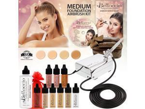Belloccio Professional Medium Shade AIRBRUSH COSMETIC MAKEUP SYSTEM Holiday Kit