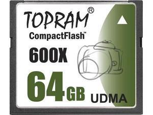 TOPRAM 64GB CF 64G CompactFlash Card UDMA7 Extreme Speed 600X UDMA 7
