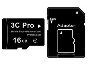 3C Pro 16GB 16G microSD microSDHC micro SD Class 4 C4 Memory Card
