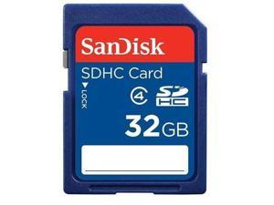SanDisk 32GB 32G SD SDHC Secure Digital Card Class 4 with USB Reader