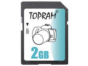 TOPRAM 2GB SD 2G SD Secure Digital Card - Bulk