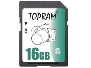TOPRAM 16GB SD 16G SDHC Secure Digital Card Class 6 -Bulk