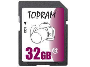 TOPRAM 32GB SD 32GB SDHC Card Class 10 Extreme Speed for Camera & Camcorder