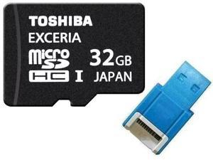 Toshiba UHS-I 32GB microSD 32GB microSDHC micro SD 32G SDHC UHS Card Class 10 with USB 2.0 Reader
