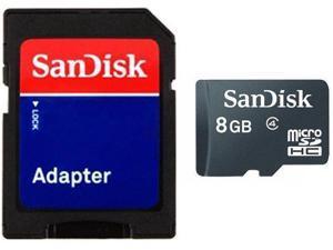 SanDisk 8GB 8G microSD microSDHC Card Class 4 with SD Adapter bulk