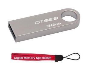 Kingston 32GB DataTraveler SE9 32G USB 2.0 Flash Drive DTSE9H/32GBZ with Lanyard