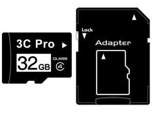 3C Pro 32GB 32G microSD microSDHC micro SD Class 4 C4 Memory Card