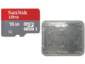 SanDisk 16GB microSD 16GB microSDHC Card Mobile Ultra Class 10 UHS-I UHS-1 with small multi function memory case