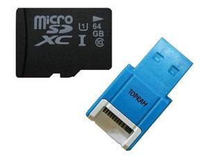 Samsung OEM 64GB 64G microSD microSDHC microSDXC micro SD SDHC SDXC Card Class 10 UHS-I fit Galaxy S3 S4 Phone with USB card ... - OEM