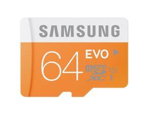 Samsung EVO 64GB microSDXC C10 64G micro SD SDXC UHS-I 48MB/s Class 10 microSD with OEM SD Adapter and Plastic Case