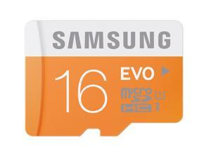 Samsung EVO 16GB microSDHC C10 16G micro SD SDHC 48MB/s UHS-I Class 10 microSD with OEM SD Adapter and Plastic Case