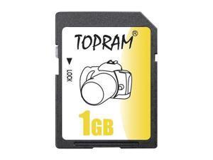 TOPRAM 1GB SD 1G Secure Digital Flash Memory Card - Pack of 5