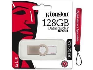 Kingston 128GB DataTraveler 101 Generation 3 DT101 G3 128G USB 3.0 Flash Drive DT101G3/128GB +Lanyard