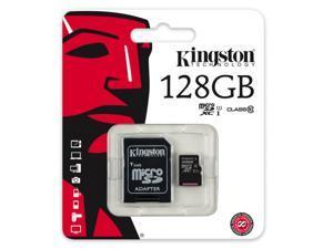 Kingston 128GB 128G microSDXC UHS-I Class 10 microSD micro SD SDXC C10 Flash Memory Card with Multifunction Memory Card Protective Case