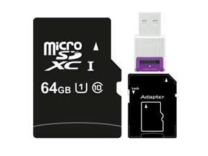 64GB microSDXC 64G microSD micro SD SDXC UHS-I Class 10 C10 TF Flash Card fit Samsung Galaxy S3 S4 S5 Note with USB 2.0 Card Reader