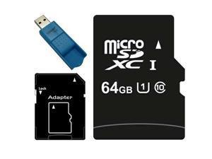 64GB microSDXC 64G microSD micro SD SDXC UHS-I Class 10 C10 TF Flash Card fit Samsung Galaxy S3 S4 S5 Note with USB 3.0 Card Reader
