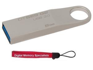 Kingston 8GB 8G DTSE9G2/8GB USB 3.0 DataTraveler SE9 G2 Metal Flash Pen Thumb Drive DTSE9G2 +OEM USB Lanyard