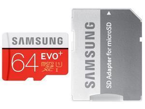 Samsung EVO Plus 64GB 64G microSDXC 80MB/s UHS-I Class 10 microSD micro SD SDXC MB-MC64DA C10 Flash Card with OEM microUSB OTG USB 2.0 Adapter